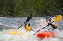 Moyie River kayakers
