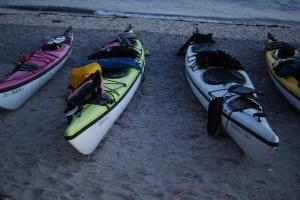The trusty kayaks!